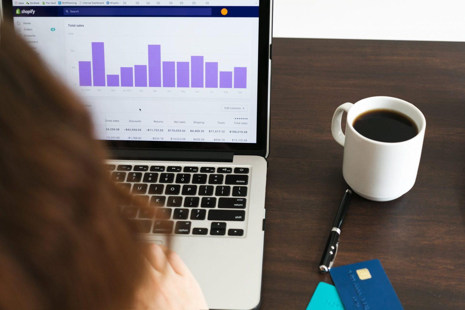 Checking shopify sales data