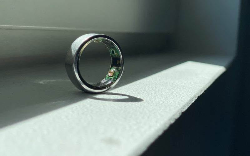 Oura ring on a table